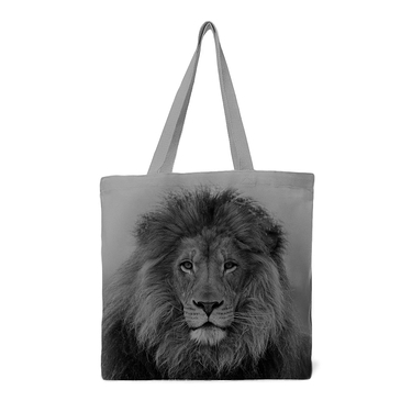 Tote bag Lion gris