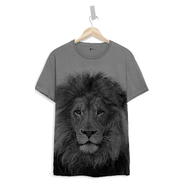 T shirt enfant Lion gris