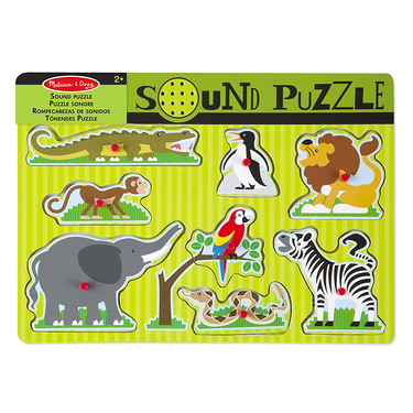 Puzzle sonore animaux