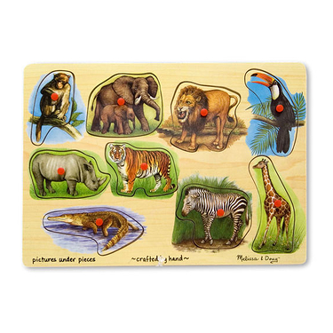 Puzzle Wooden Zoo Peg